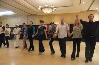 West Coast Swing Dancers